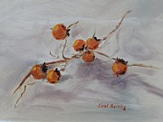 Persimmons Prints - Persimmons Print by Carol Berning