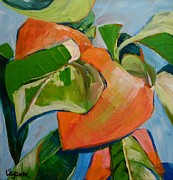 Suzanne Willis Metal Prints - Persimmons Metal Print by Suzanne Willis