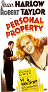 Harlow Framed Prints - Personal Property, Jean Harlow, Robert Framed Print by Everett