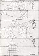 Diagrams Posters - Perspective Diagrams, 17th Century Poster by Middle Temple Library