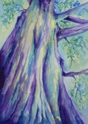 Tall Tree Paintings - Perspective Tree by Gretchen Bjornson