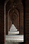 Brick Building Prints - Perspectives Print by Susanne Van Hulst