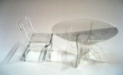 Furniture Sculpture Posters - Perspex furniture Poster by Ky Wilms