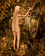 Adam And Eve Digital Art Framed Prints - Persuaded Framed Print by Lourry Legarde