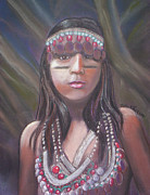 Latin Pastels - Peruvian Girl by Julie Brugh Riffey