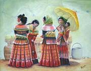 Peruvian Ladies Print by Catherine Link