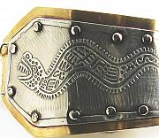 Tucson Arizona Jewelry Originals - Peruvian Serpent Etched Silver Bracelet by Virginia Vivier