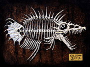 Featured Reliefs Metal Prints - Pescado Dos Metal Print by Baron Dixon