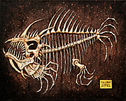 Monster Reliefs Prints - Pescado Seis Print by Baron Dixon