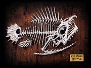 Featured Reliefs Metal Prints - Pescado Uno Metal Print by Baron Dixon