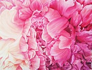 Pink Tapestries - Textiles Originals - PetalPlay by Husna Rafath