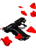 Guns And Roses Art - Petals and Gunpowder by Emily Stauring