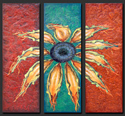 Sun Mixed Media Originals - Petals by Kelly Jade King
