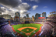Baseball Field Posters - Petco Park Opening Day Poster by Shawn Everhart