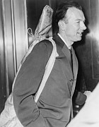 Singer Photos - Pete Seeger B. 1919 Arrives At Federal by Everett