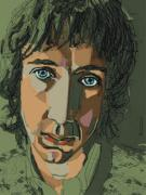 Songwriter Drawings Posters - Pete Townshend - Behind Blue Eyes  Poster by Suzanne Gee