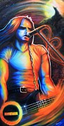 Spraypaint Painting Prints - Peter Steele Print by Cobb Family Art