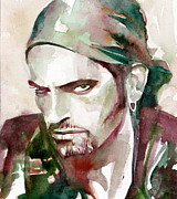 Singer Paintings - Peter Steele Portrait.6 by Fabrizio Cassetta