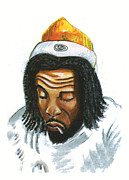 Rhythm And Blues Drawings - Peter Tosh by Emmanuel Baliyanga