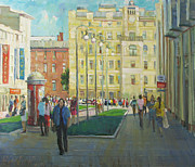 Russia Paintings - Petersburg vacation by Juliya Zhukova
