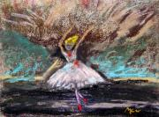 Intense Pastels - Petite Ballerina by Mary Carol Williams
