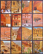 Tombs Digital Art - PETRA ALIVE in Petra Jordan by Ruth Hager
