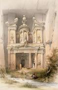 1806-85 Framed Prints - Petra Framed Print by David Roberts