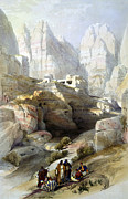 Roberts Drawings - Petra March 10th 1839 by Munir Alawi