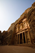 Old Ruin Framed Prints - Petra Treasury At Morning Framed Print by Universal Stopping Point Photography