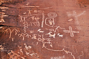 American Primitive Art Prints - Petroglyph Canyon - Valley of Fire Print by Christine Till