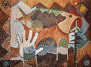 Pointillism Art - Petroglyph by Micheal Jones