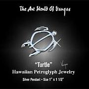 Tahiti Jewelry - Petroglyph Turtle by Vargas Jewelry