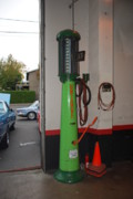Petrol Green Prints - Petrol Pump Print by Mary Griffin
