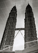 Brave New World Prints - Petronas Towers Reflection Print by Shaun Higson