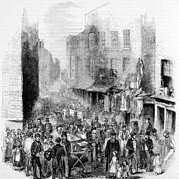 Petticoat Lane, London, On A Sunday Print by Everett