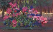 Flowers Pastels - Petunias by Donald Maier