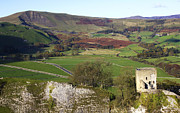 Tor Framed Prints - Peveril Castle And Mam Tor. Hope Valley. Framed Print by Darren Burroughs