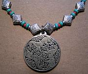 Silver Turquoise Jewelry Originals - Pewter Celtic Horse Knot by Kim Souza