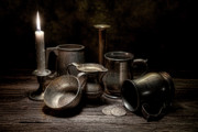 Coin Photo Prints - Pewter Still Life II Print by Tom Mc Nemar