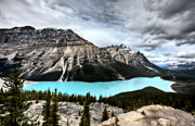 Turquoise Mountain Lake Prints - Peyto Lake Alberta Canada Print by Mark Duffy