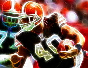 Cleveland Browns Drawings Posters - Peyton Hillis Magical Poster by Paul Van Scott