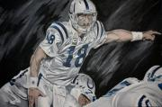 David Courson Art - Peyton Manning by David Courson