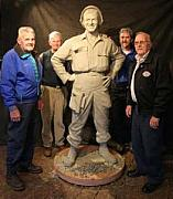 Soldier Sculptures - Pfc. Emory L. Bennett Korean Medal Of Honor Winner Memorial by Tom White