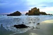 Pfeiffer Beach Evening - Big Sur Print by Charlene Mitchell