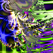 Fractal Geometry Digital Art Metal Prints - Phantasm . Square Metal Print by Wingsdomain Art and Photography
