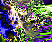 Fractal Geometry Digital Art Prints - Phantasm Print by Wingsdomain Art and Photography