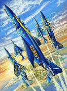 Blue Angels Framed Prints - Phantom Angels Framed Print by Charles Taylor