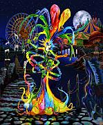 Mardi Gras Prints - Phantom Carnival Print by Kd Neeley