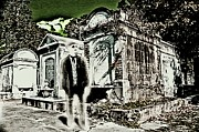 Lafayette Digital Art Prints - Phantom In A New Orleans Cemetery Print by James Griffin