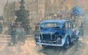 Vintage Car Framed Prints - Phantom in Piccadilly  Framed Print by Peter Miller
